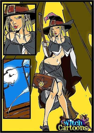 Stacked witch giving sloppy blowjob - part 1550
