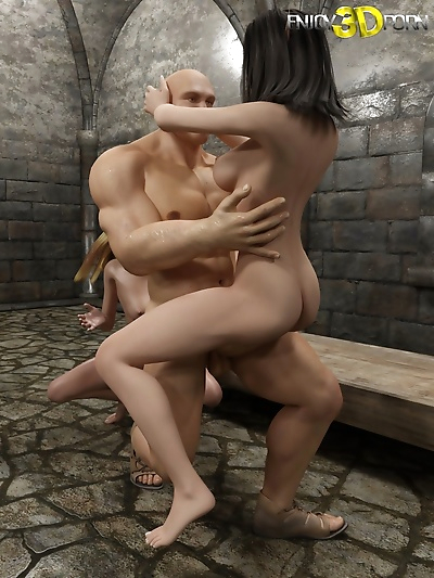 Two nice dungeon sluts and one huge dick - part 15