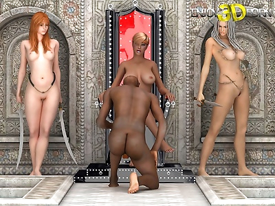 Black guy fucks three gorgeous girls - part 514